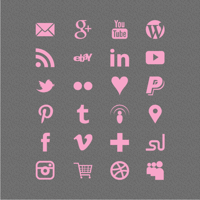 9 Pastel Pink Transparent Icon Images