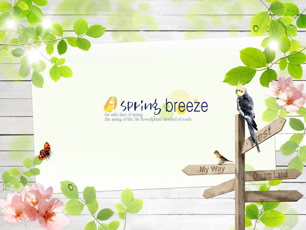 11 Spring Theme PSD Files Images