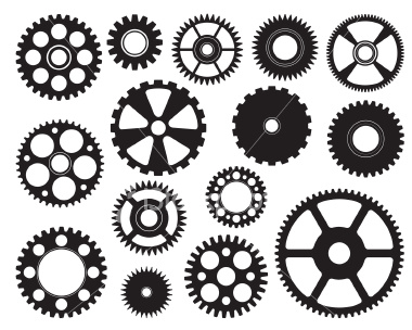 15 Steampunk Gears Free Vector Art Images