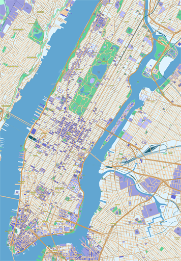 Street Maps Manhattan New York City