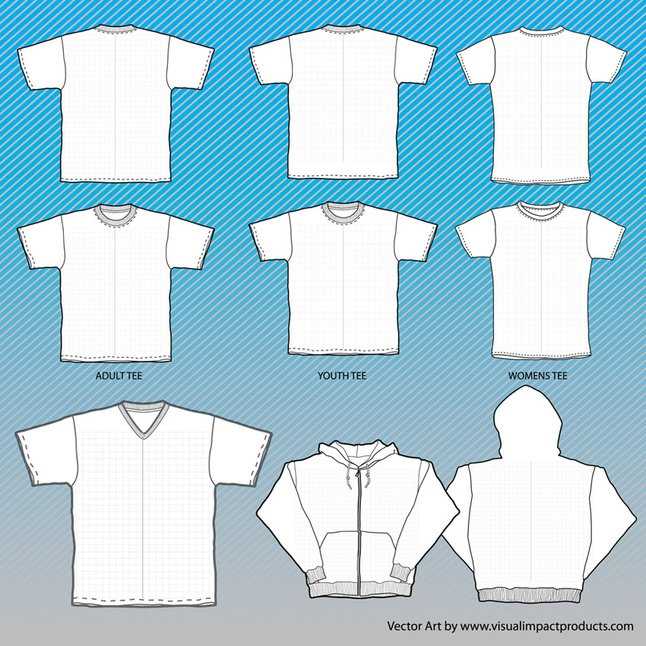 15 T-Shirt Mock Up Vector Images