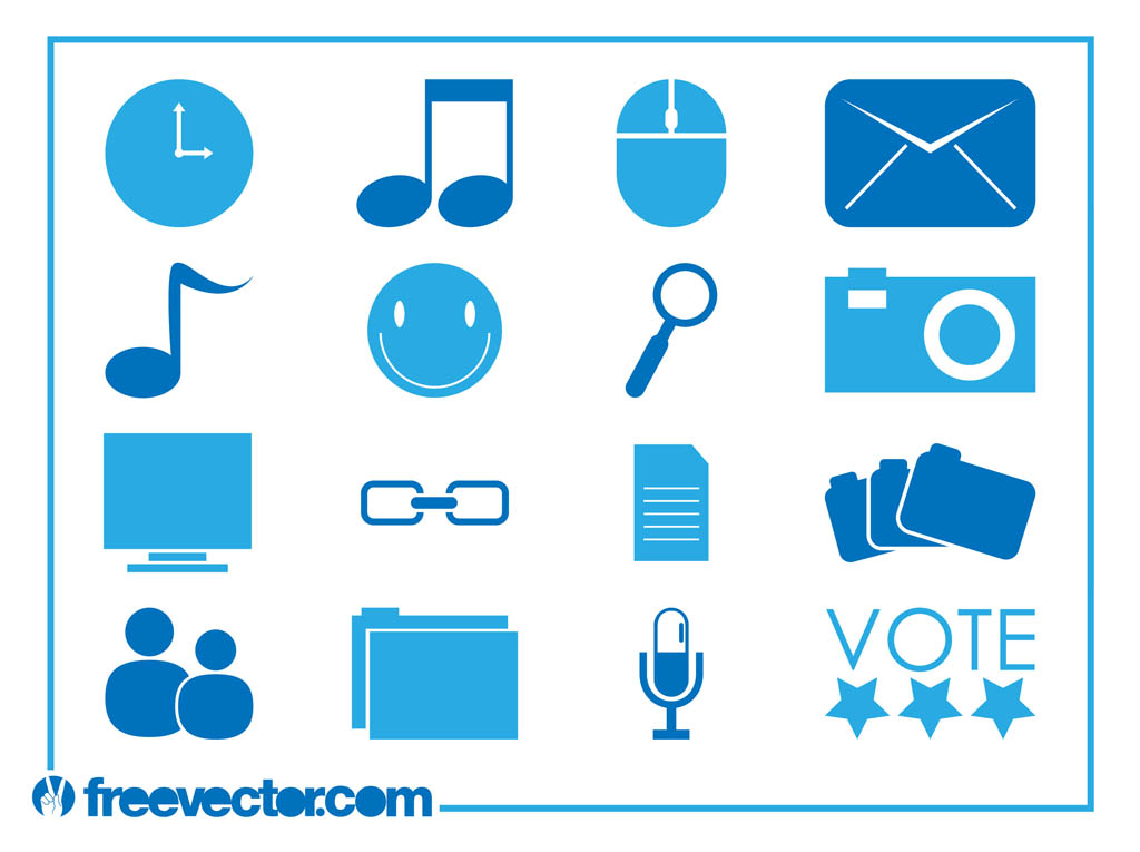 18 Technology Web Icons Vector Free Images