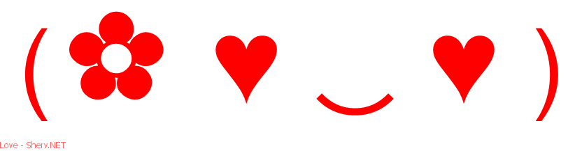 Text Love Emoticons
