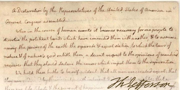 Thomas Jefferson Handwriting
