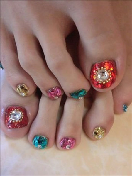 Toe Nail Art Design Ideas 2014