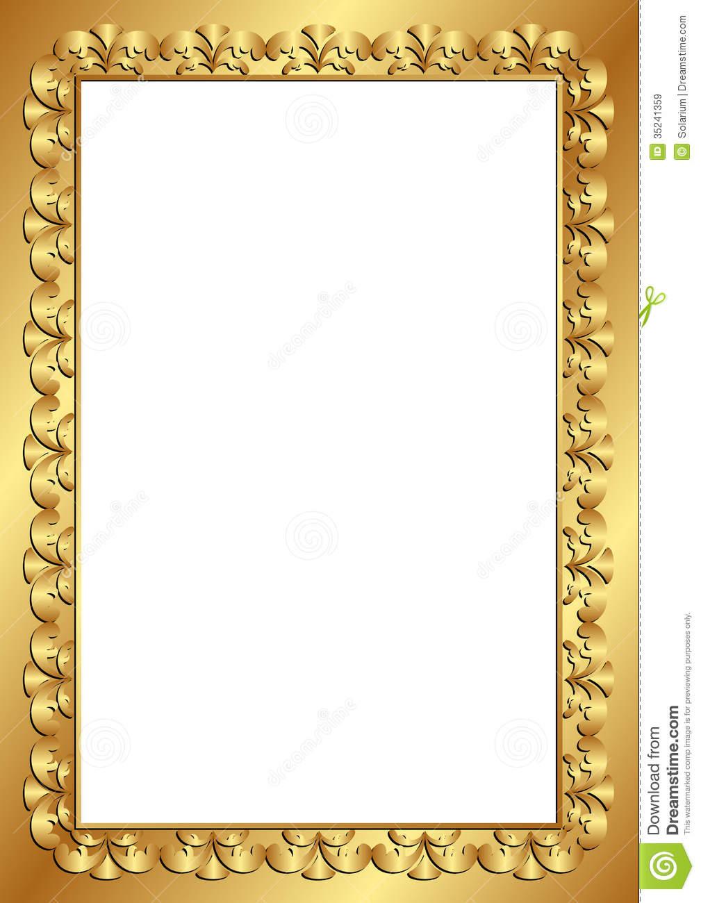Transparent Gold Frame Borders