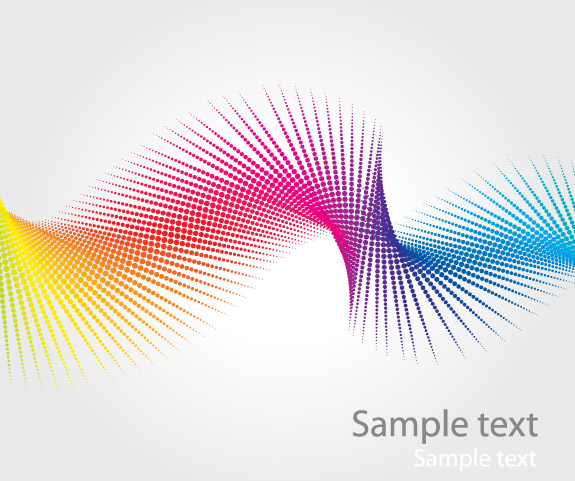 Vector Abstract Swirl Rainbow