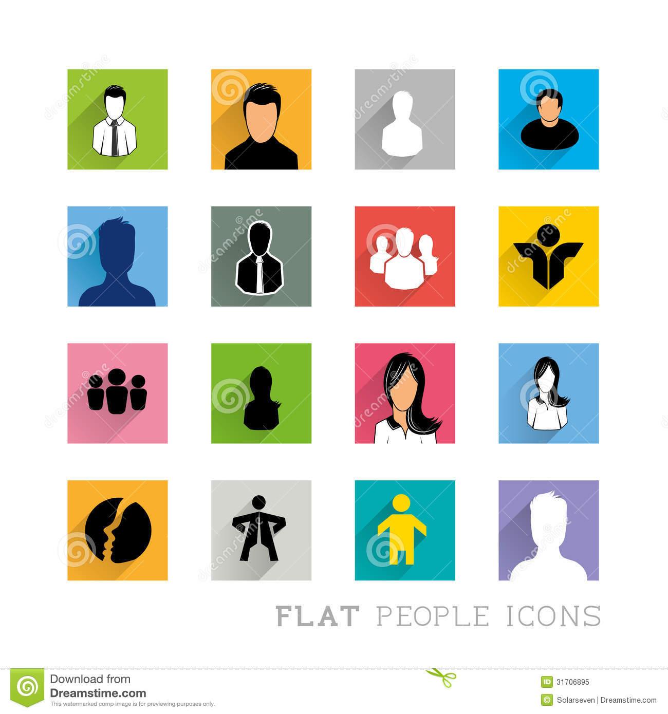 Vector Person Icon Flat