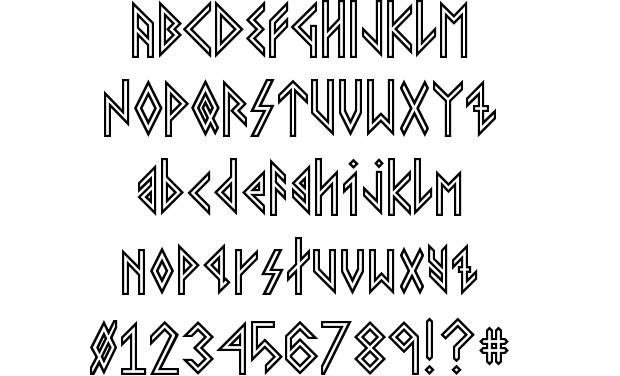 Viking Rune Fonts