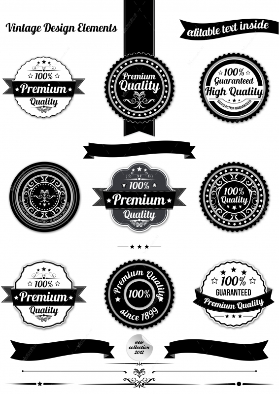 13 Free Label Template PSD Images - Vintage Free PSD Logo ...