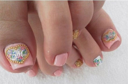 Wedding Toe Nail Art Design