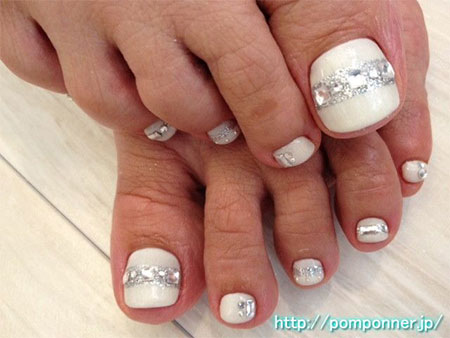 16 Toenail Designs Simple Wedding Day Images