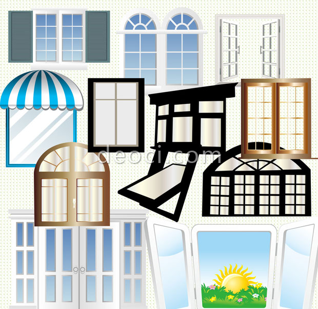 12 wooden house windows psd images window frame shapes for Window design template