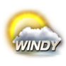Windy Weather Channel Mostly Cloudy Icon