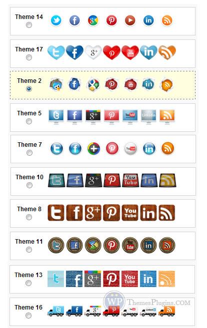 WordPress Social Media Icons