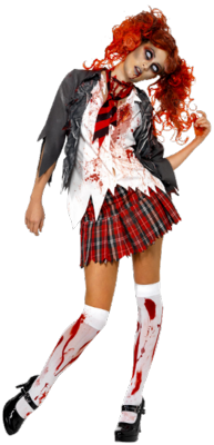 12 Girl Zombie PSD Images