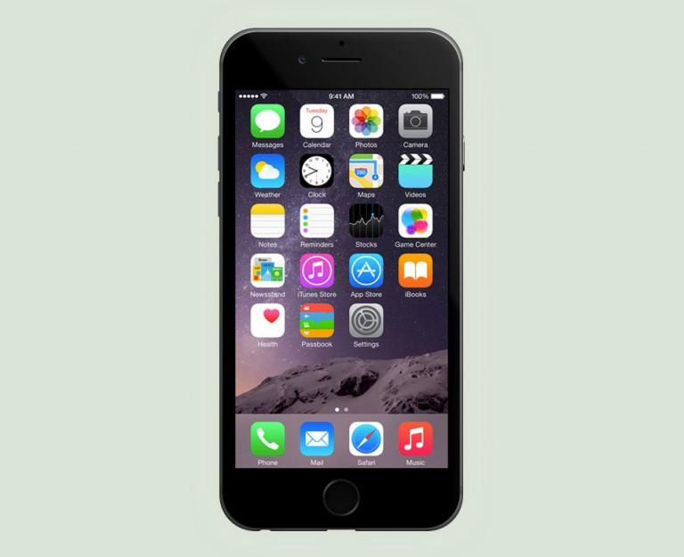 6 iPhone PSD Template