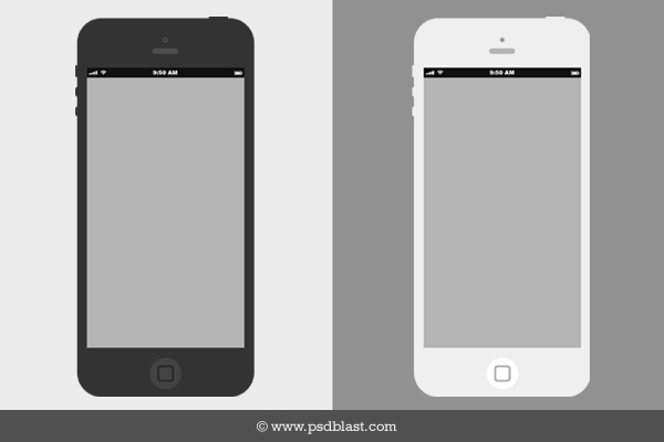 6 iPhone Wireframe Template
