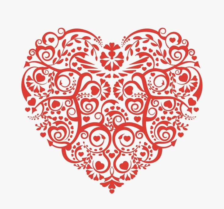 14 Abstract Vector Heart Outline PNG Images