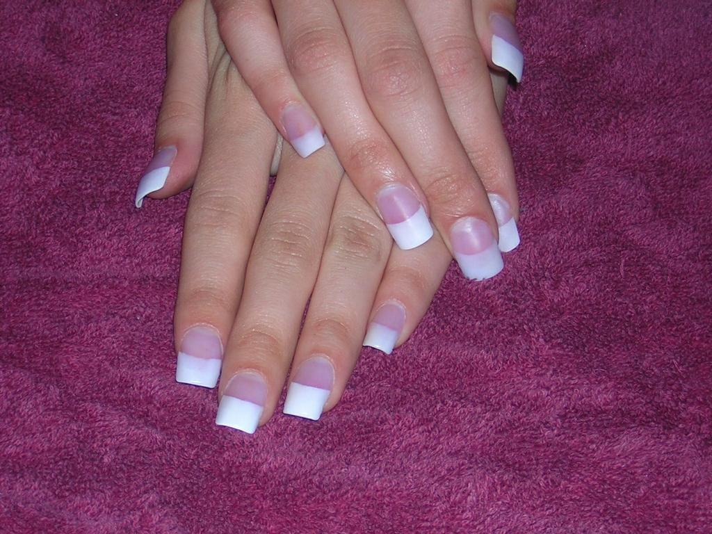 French Manicure Acrylic Nail Designs- HireAbility
