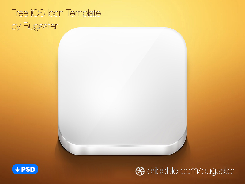 App Icon Template PSD