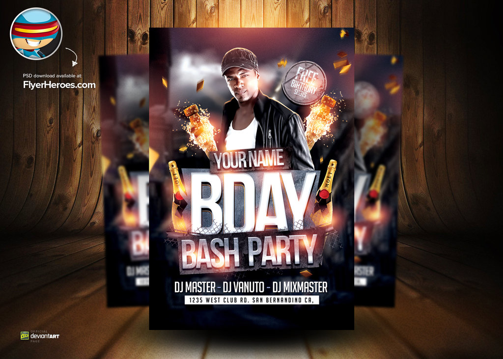 17 Birthday Flyer Free PSD Images Birthday Party Flyer Templates – Birthday Flyer Templates Free