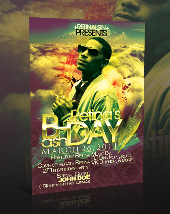 17 Birthday Flyer Free PSD Images - Birthday Party Flyer