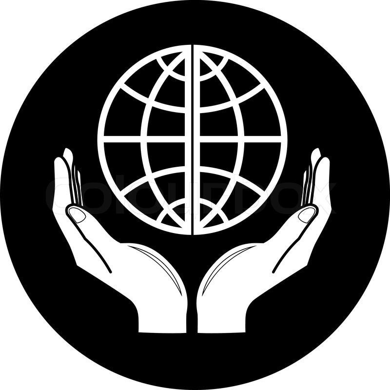 Black and White Globe Icon