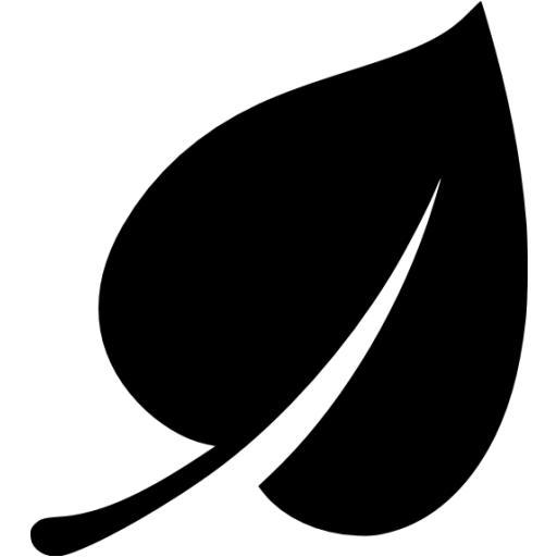 12 Black Leaf Icon Images