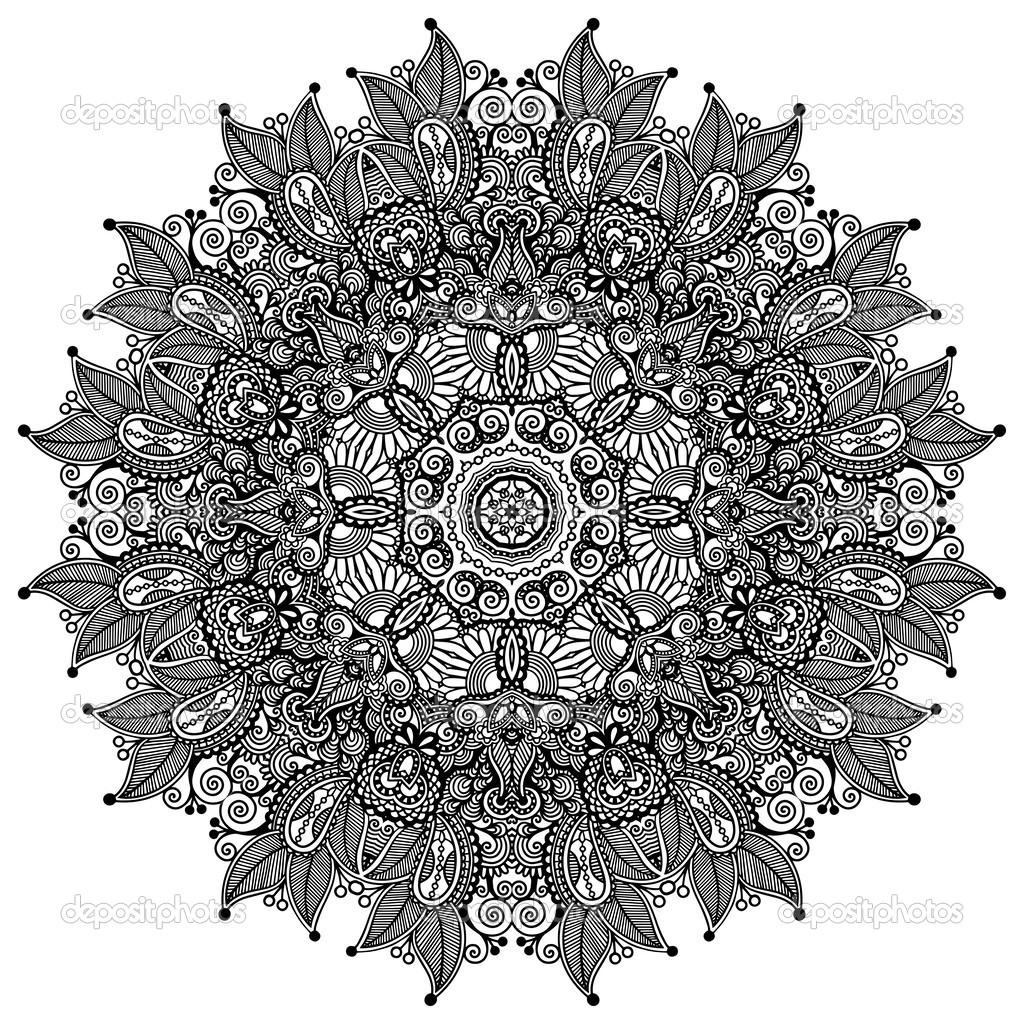 Black Lace Circle Pattern