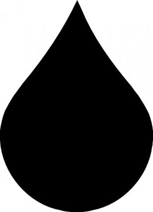Black Teardrop Clip Art