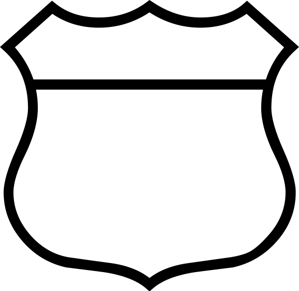 Blank Police Shield Template