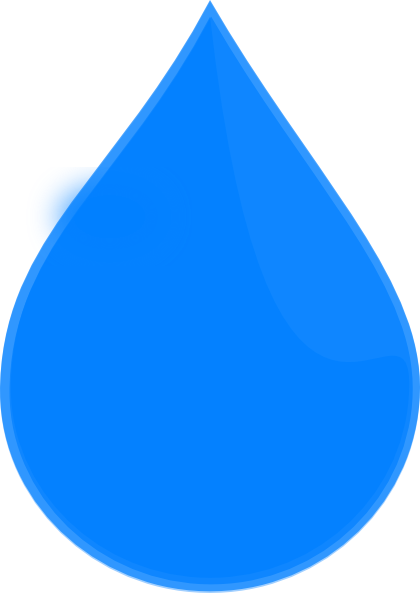 Blue Water Drop Clip Art