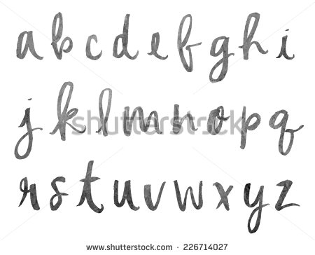 Brush Hand Lettering Calligraphy Font Alphabet