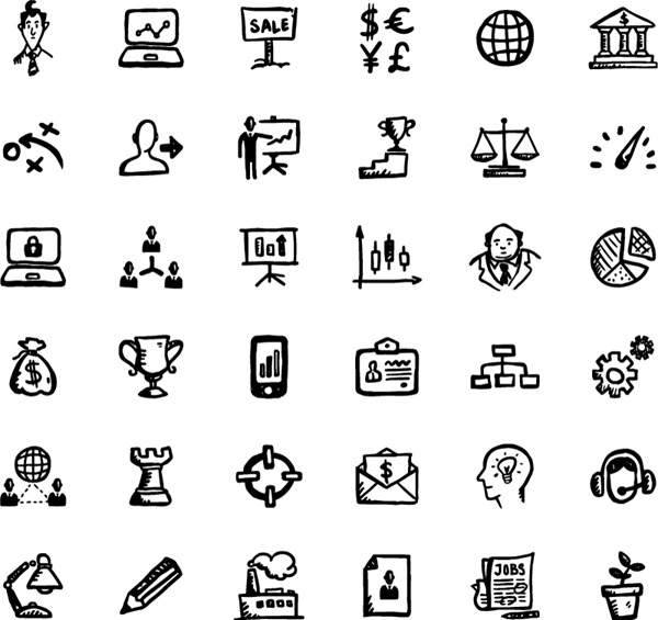 5 Trade Icons Vector Free Images
