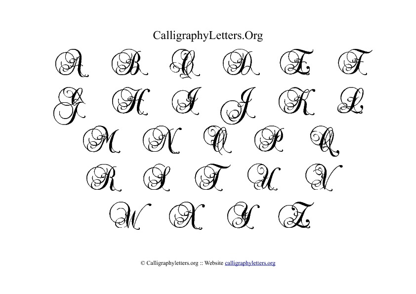 88 Calligraphy Alphabets A To Z