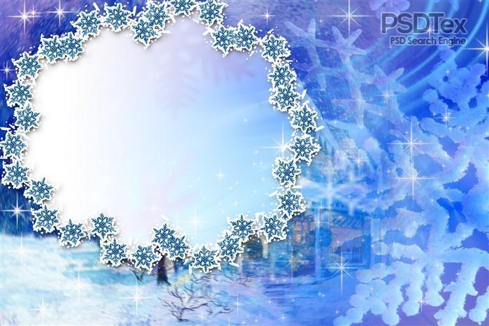 Christmas Frame PSD Template