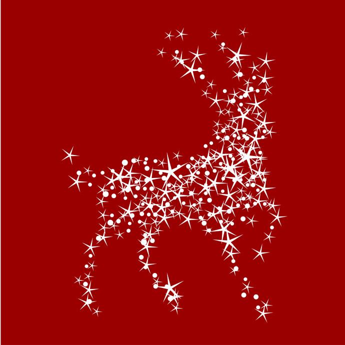 13 Christmas Deer Vector Free Images