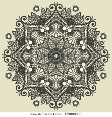 Circle Geometric Flower Patterns