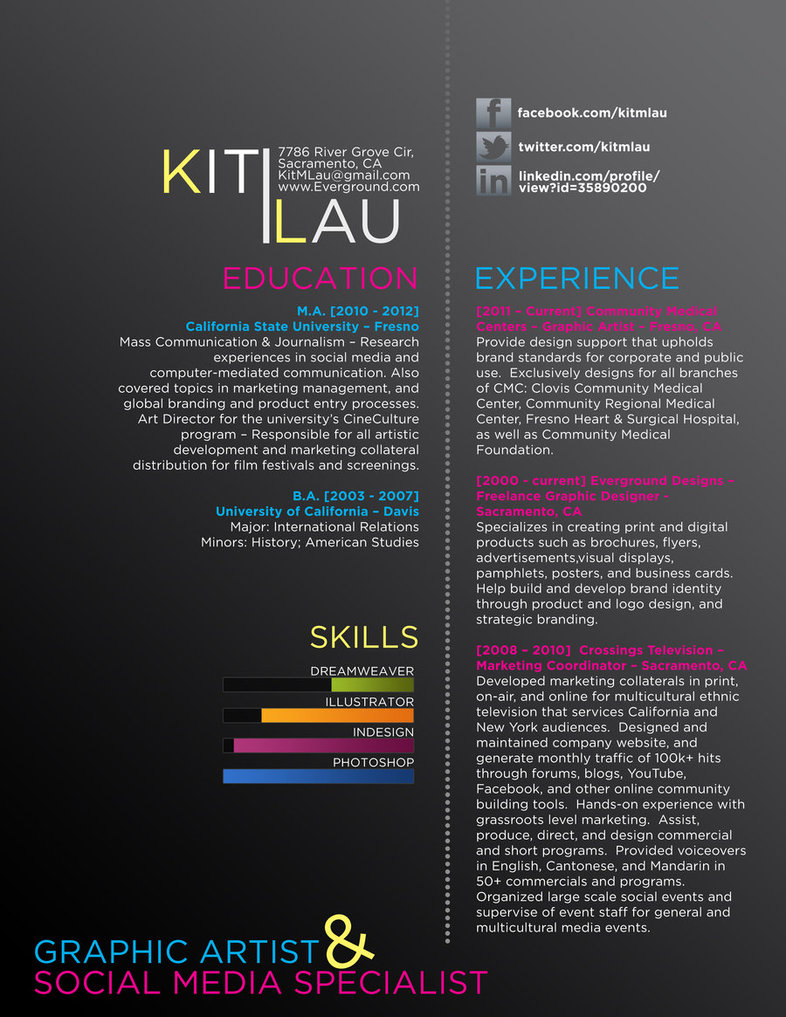 16 Creative Resumes Graphic Design Images Ms Word Creative Graphic Design Resume Examples And Creative Graphic Design Resume Newdesignfile Com