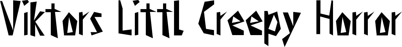 Creepy Horror Fonts