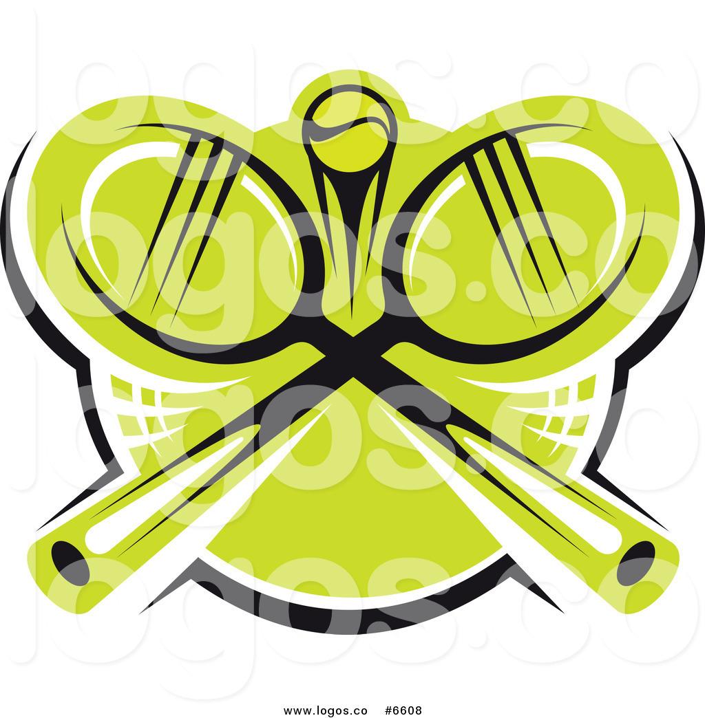 Crossed Tennis Rackets Logo