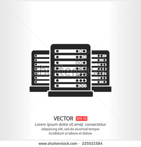 Data Center Vector Icons
