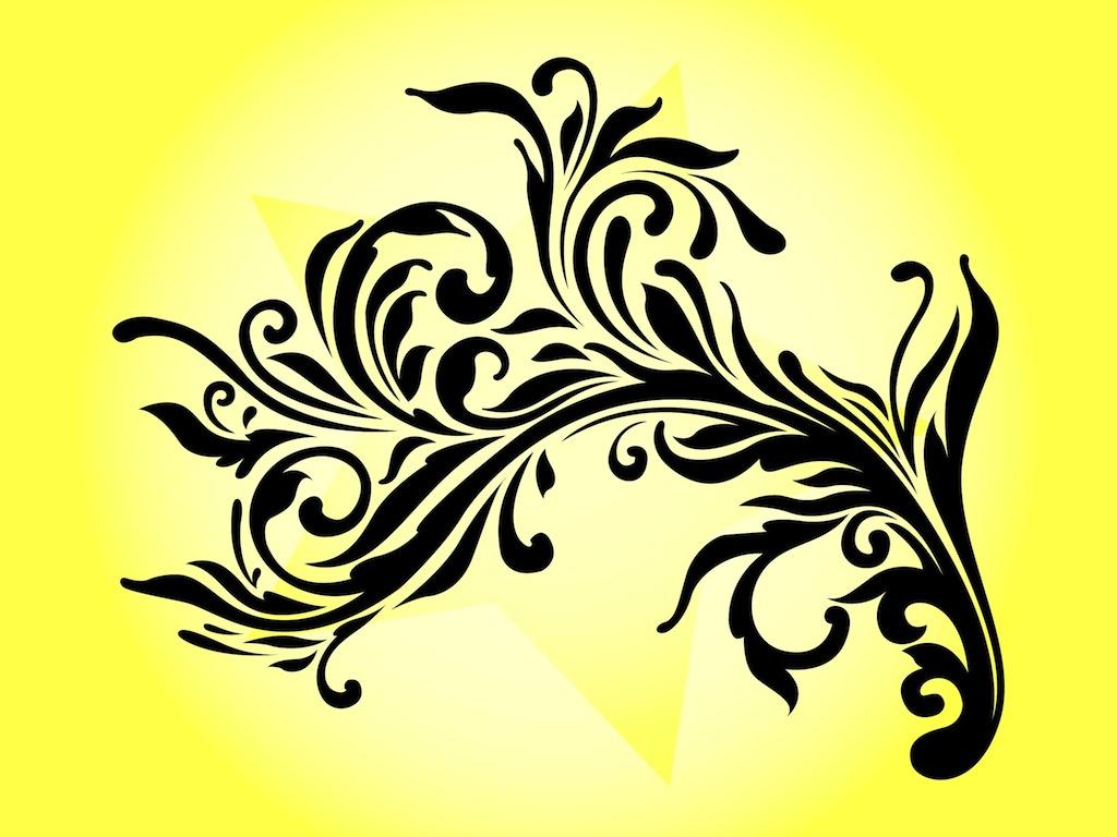 Decorative Flower Swirls