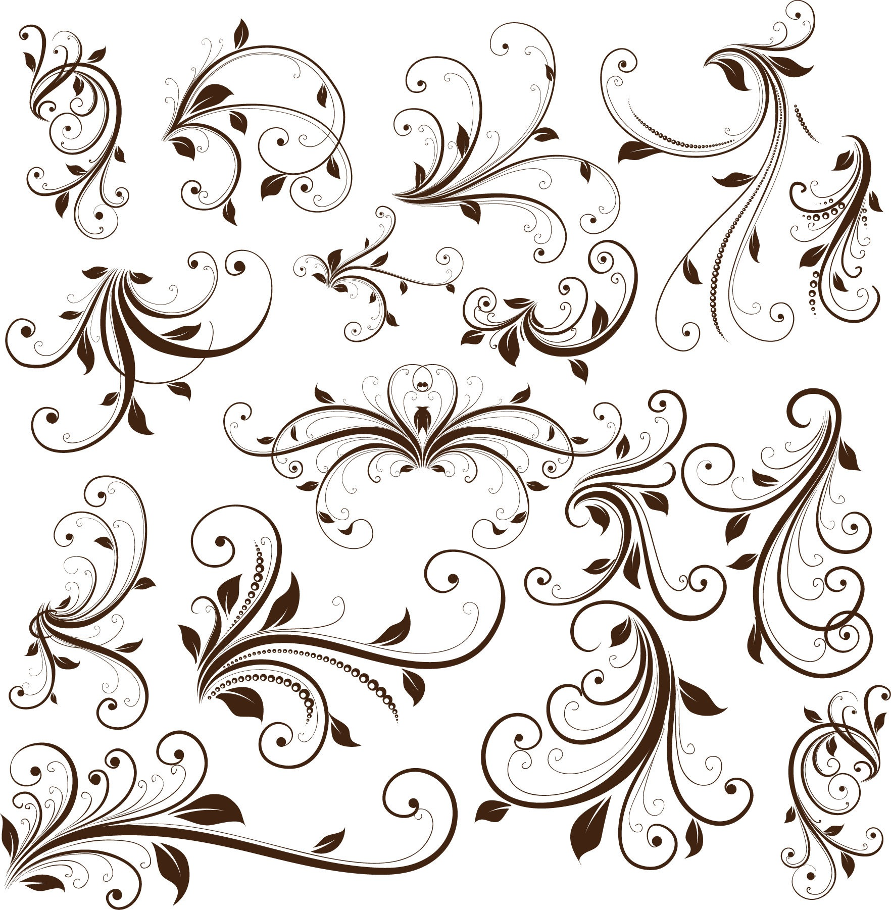 20 Free Vector Decorative Swirls Images