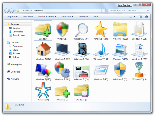 7 Microsoft Windows 7 Icon Pack Images