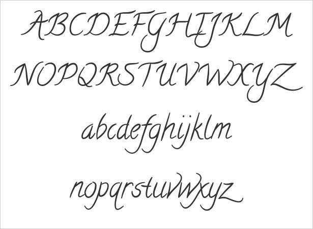 Easy Pretty Writing Fonts