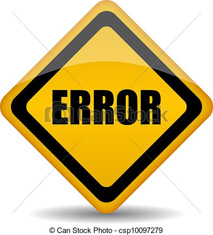 Error Sign Clip Art