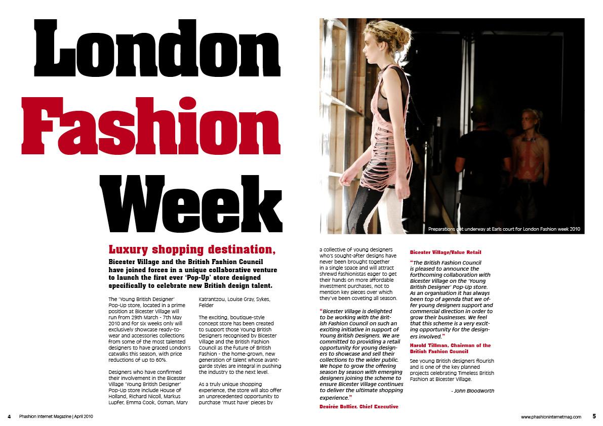 Fashion Magazine Layout Design