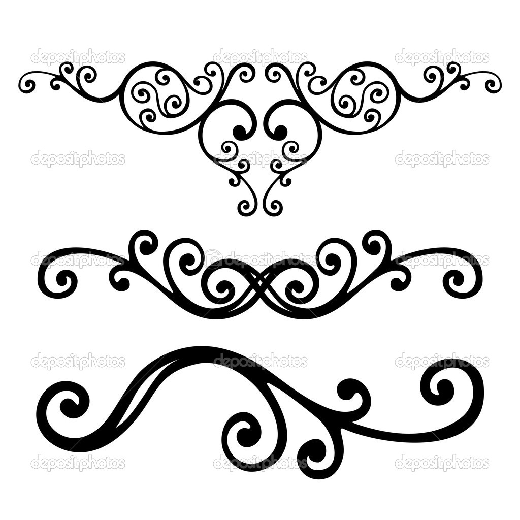 Line Drawing Vector Graphics : Floral vector lines images line clip